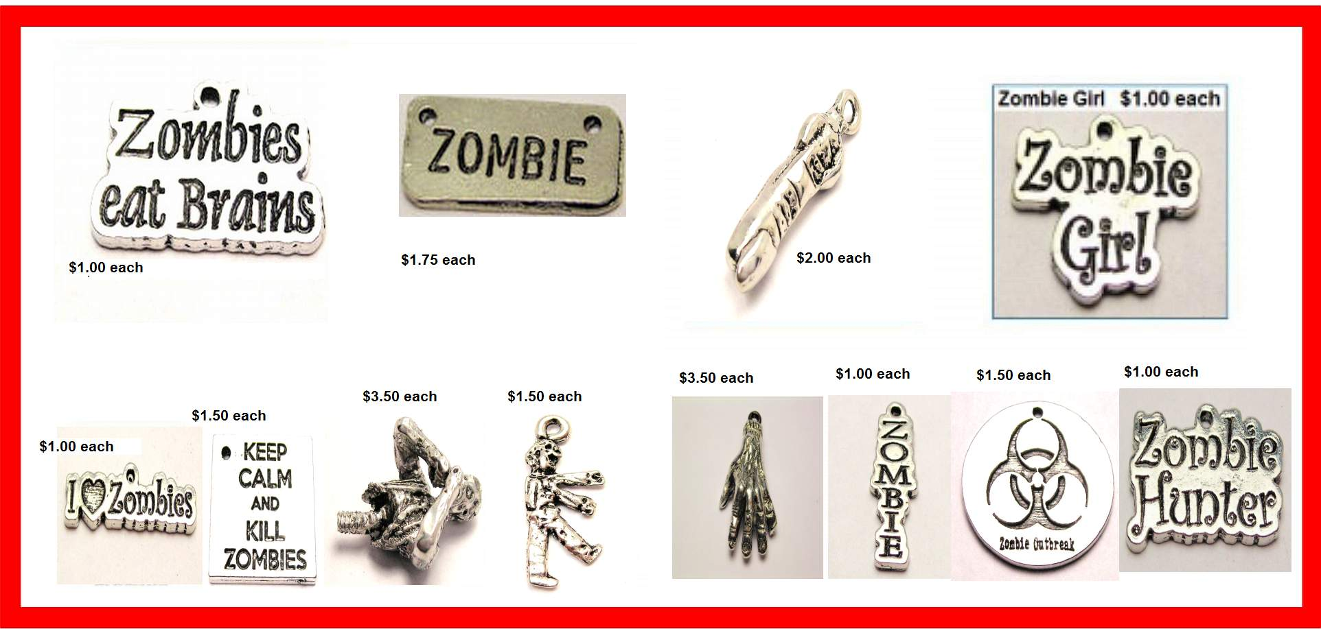 zombie charms